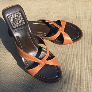 Cole Haan Leather Wedge Heel Sandal 🇧🇷